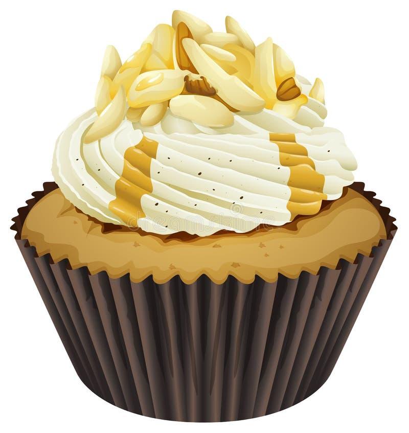 一块杯形蛋糕 皇族释放例证