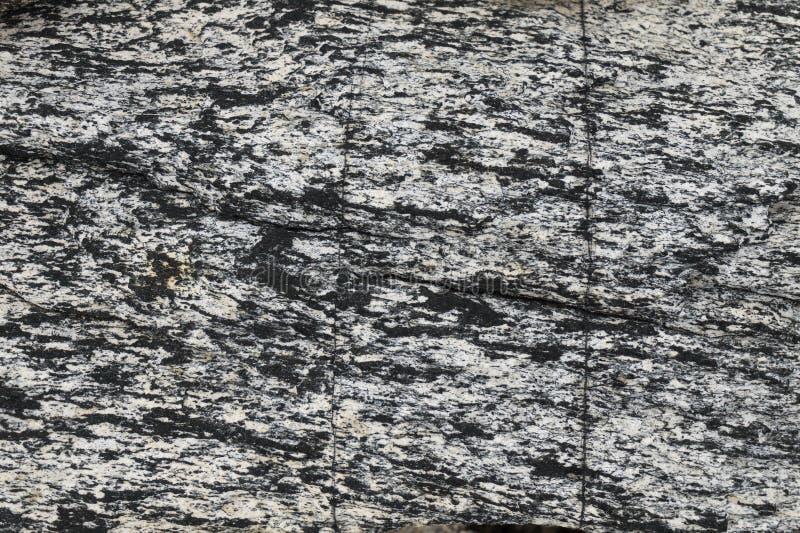 一块石头的纹理在挪威的山的 背景 库存照片
