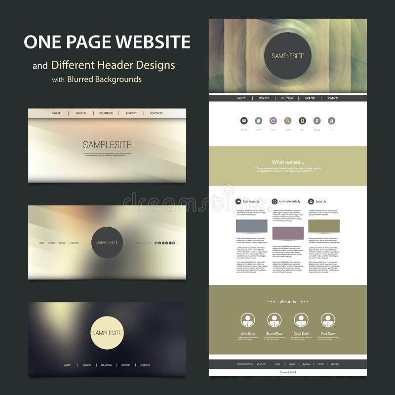 一块页网站模板和不同的倒栽跳水设计有被弄脏的背景 皇族释放例证