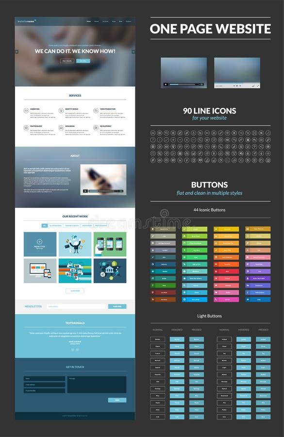 一块页网站设计模板 向量例证