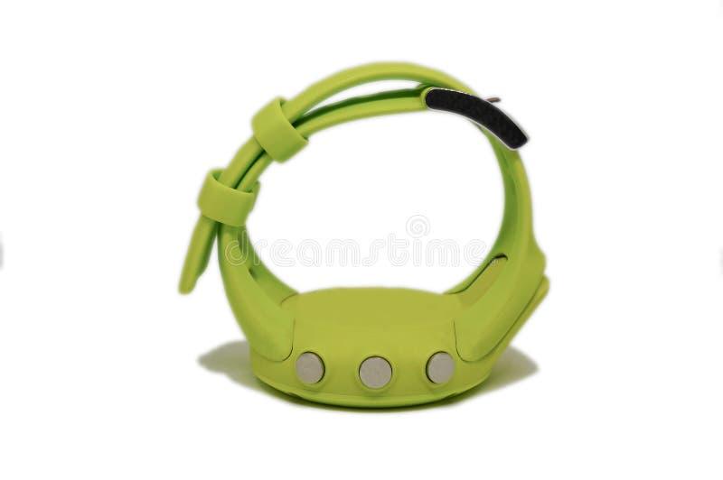 一块绿色体育手表 免版税库存图片