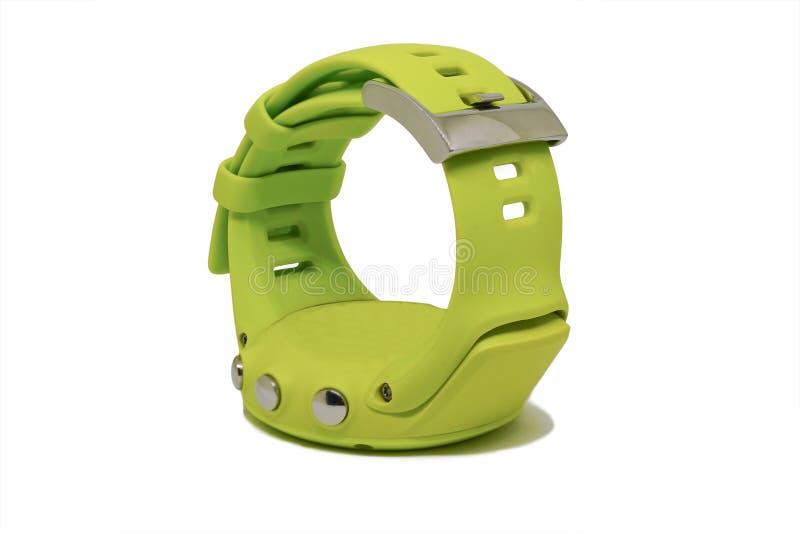 一块绿色体育手表 库存照片