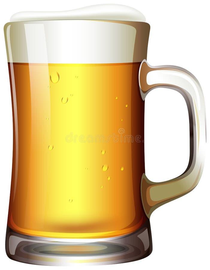 一大品脱啤酒 库存例证