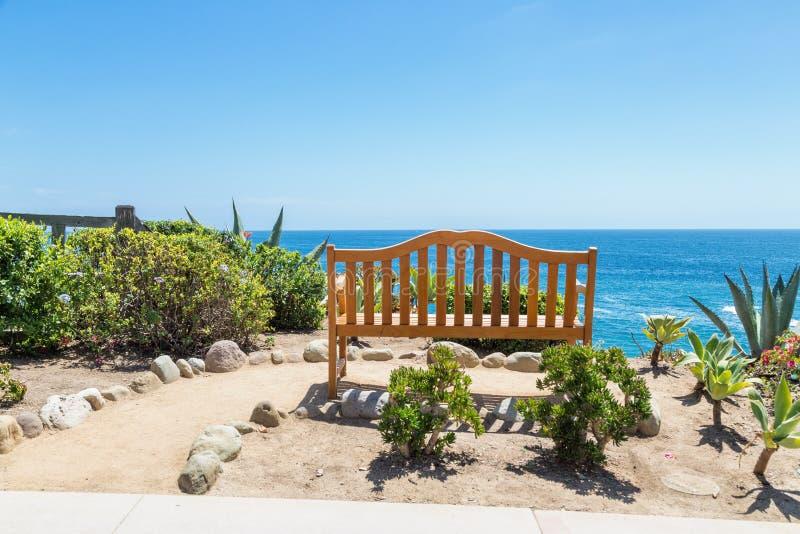 一天在拉古纳海滩,加利福尼亚 库存照片