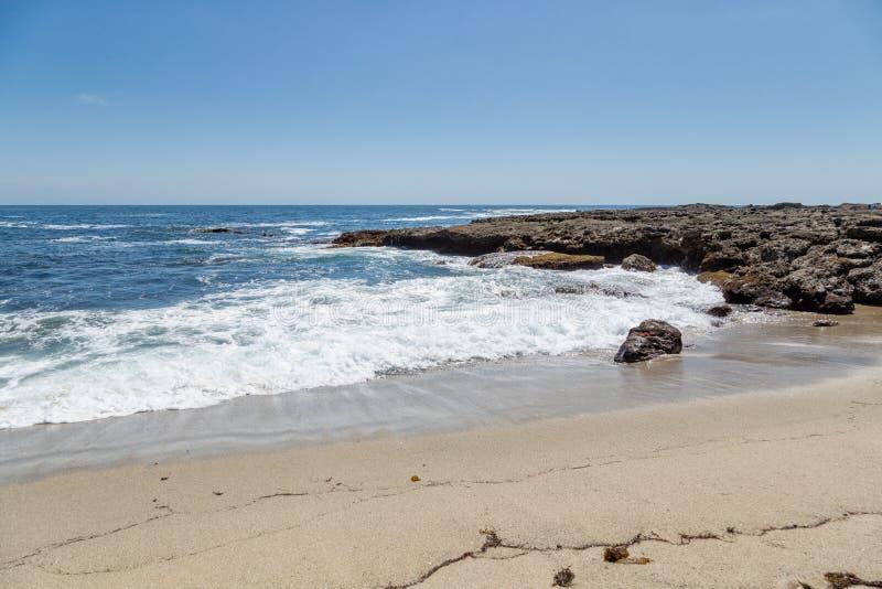 一天在拉古纳海滩,加利福尼亚 免版税图库摄影