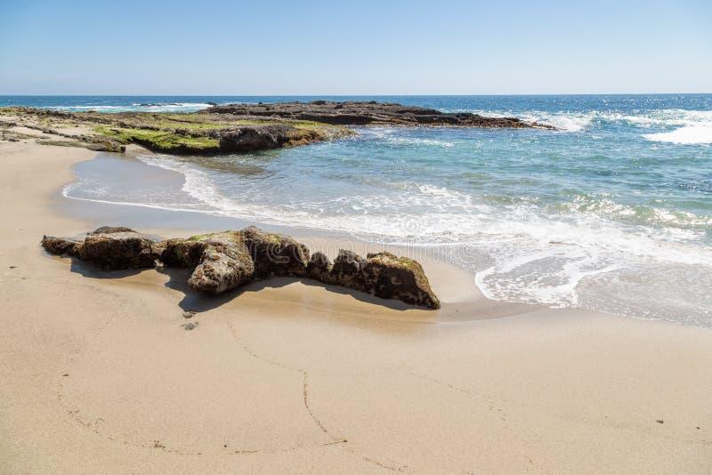 一天在拉古纳海滩,加利福尼亚 免版税库存照片
