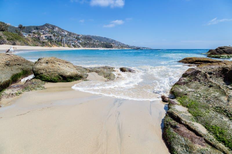一天在拉古纳海滩,加利福尼亚 库存图片