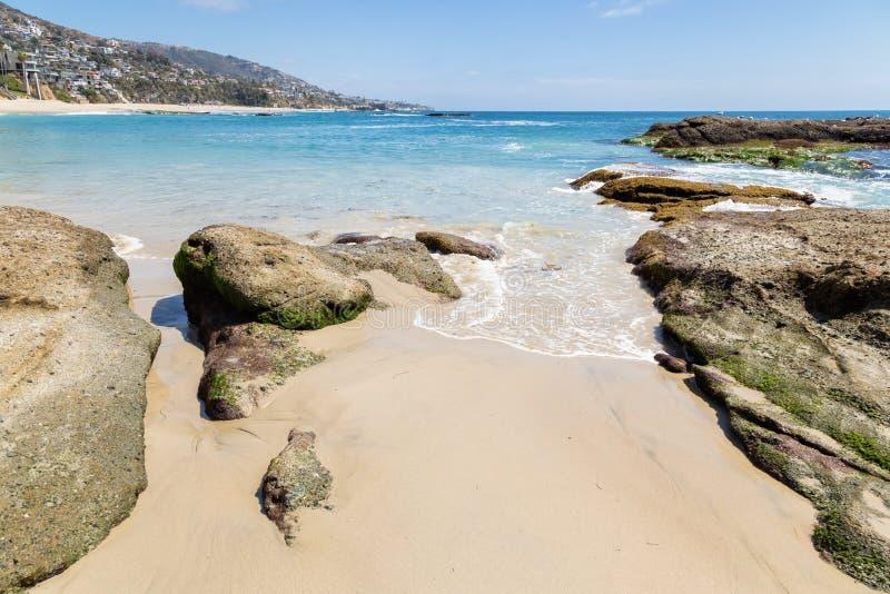 一天在拉古纳海滩,加利福尼亚 图库摄影