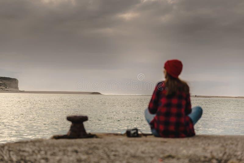 一天在湖 免版税图库摄影