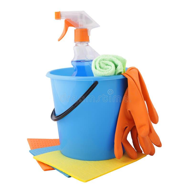 一套为清洗的工具 免版税库存照片