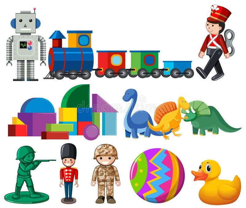 一套儿童玩具 库存例证