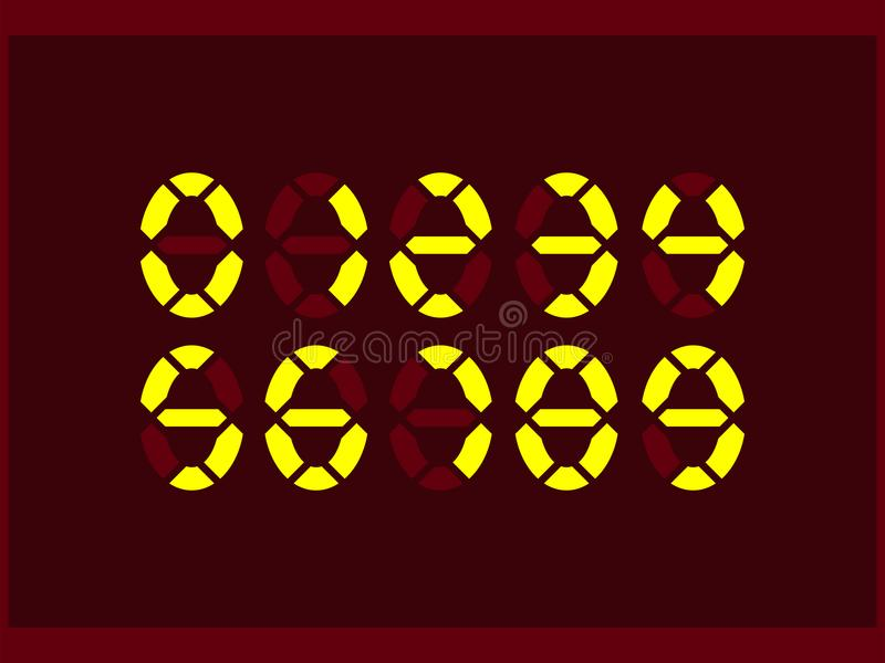 一套电子设备标示的数字图纸在长桌面的.显示僵尸霓虹打圆形图片