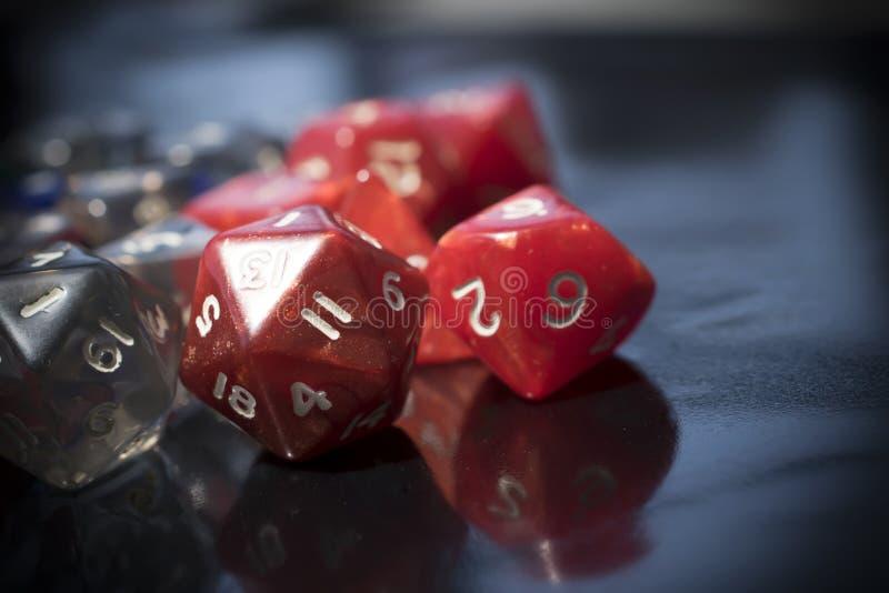 一套红色和透明RPG模子 图库摄影