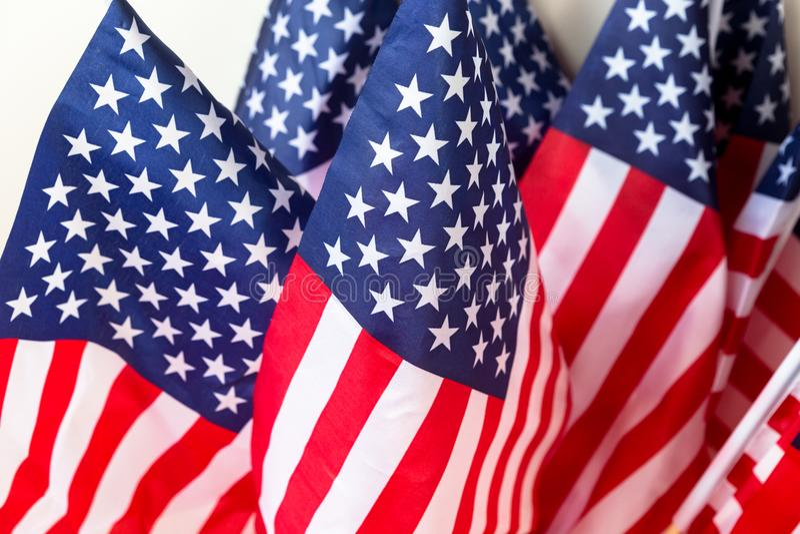 一套美利坚合众国旗子 库存照片