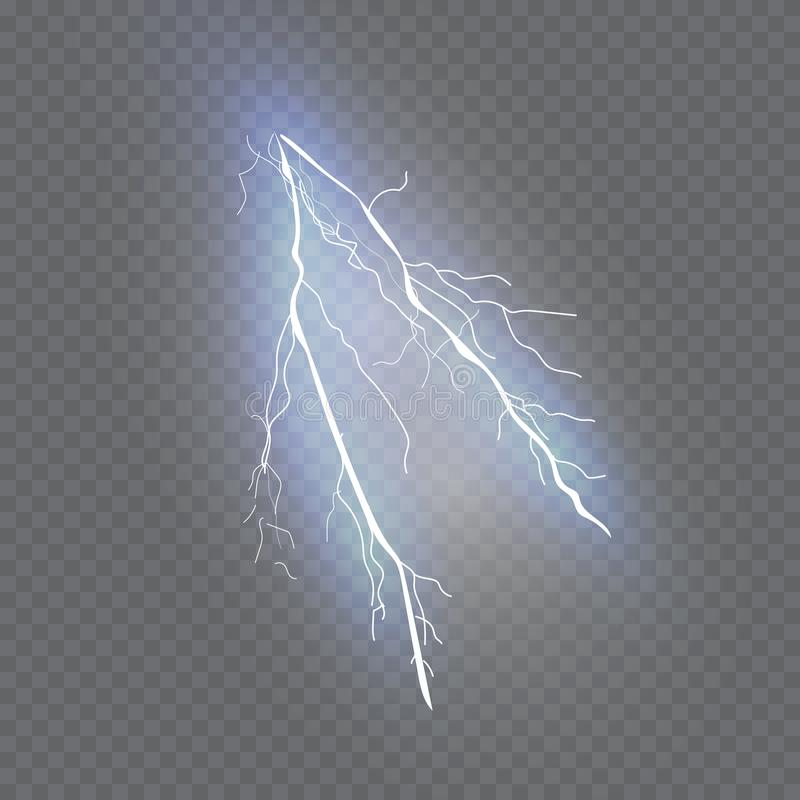 一套闪电魔术和明亮的光线影响 也corel凹道例证向量 放电电流 库存例证