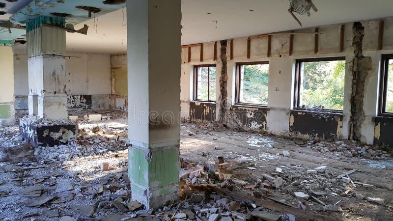 一家老旅馆的中央室 库存照片
