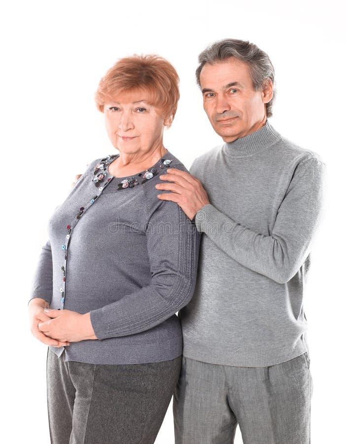 ?? 一对爱恋的年长夫妇的画象 r 图库摄影
