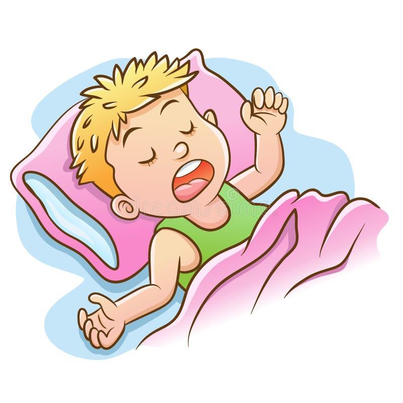 一小男孩睡觉 图库摄影