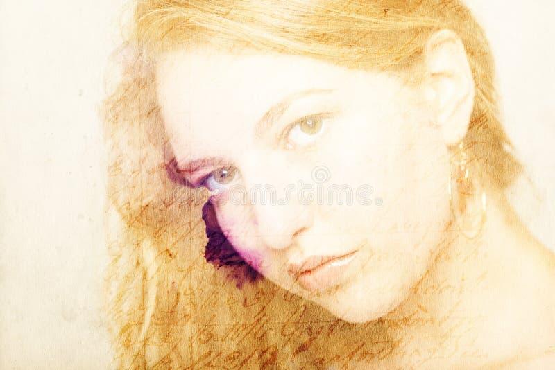 一年轻女人的画象摄影样式的 库存照片