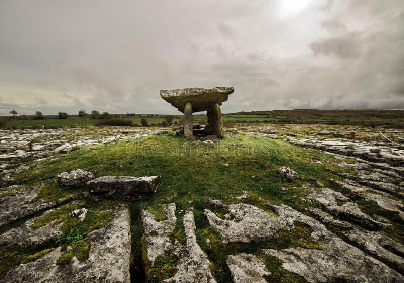 一座古墓站立在小山 免版税库存图片