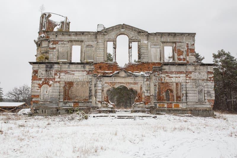 一座古老城堡捷列先科Grod的废墟在Zhitomir,乌克兰 库存图片