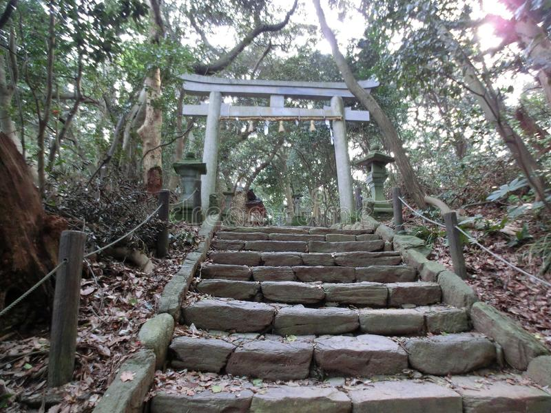 一座安静的小的寺庙 免版税库存图片
