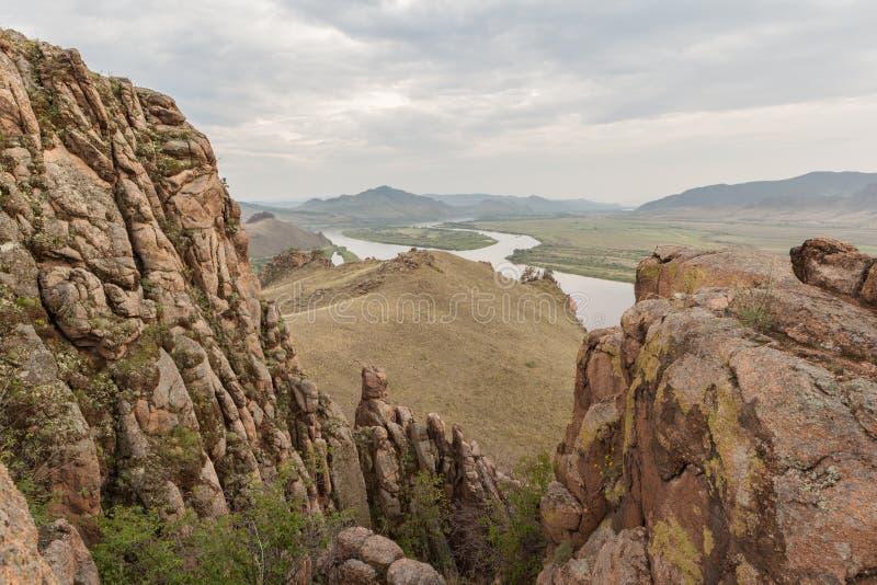 一座小山 风景 图库摄影