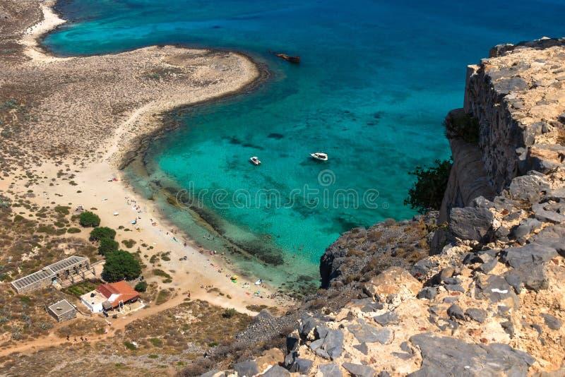 一座山的老堡垒在格拉姆武萨群岛上面viev 库存照片