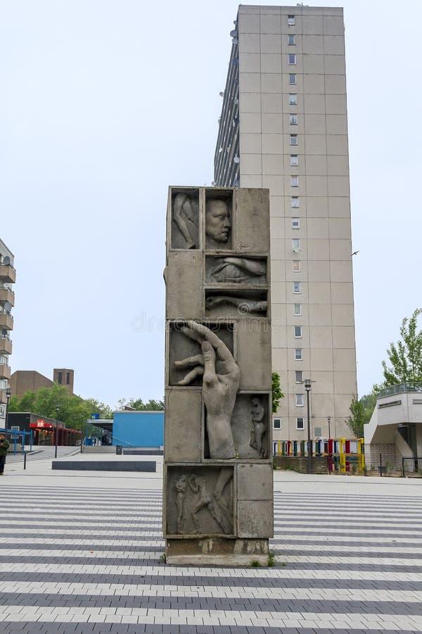 一座混乱的纪念碑 免版税库存图片