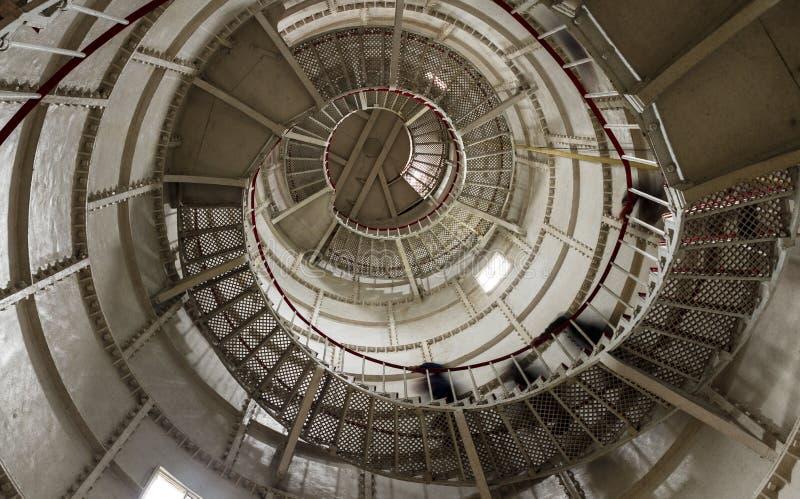 一座灯塔的楼梯在波季,乔治亚 免版税库存图片