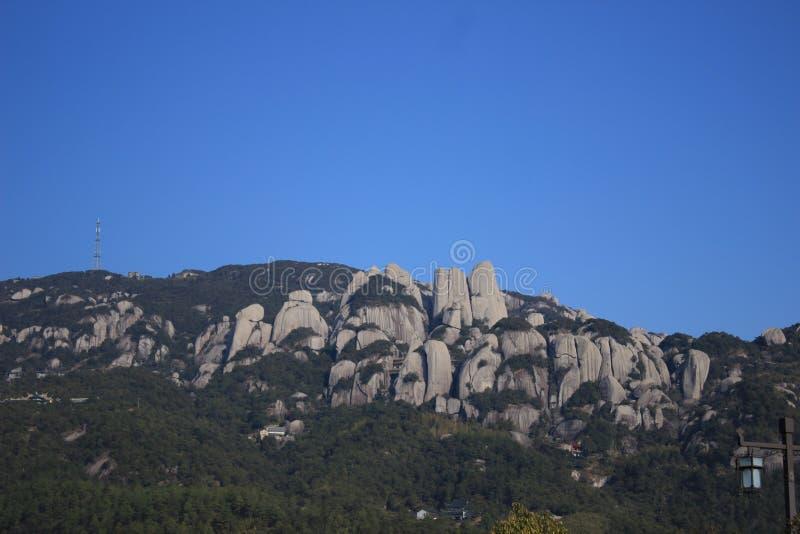 一座石山 图库摄影