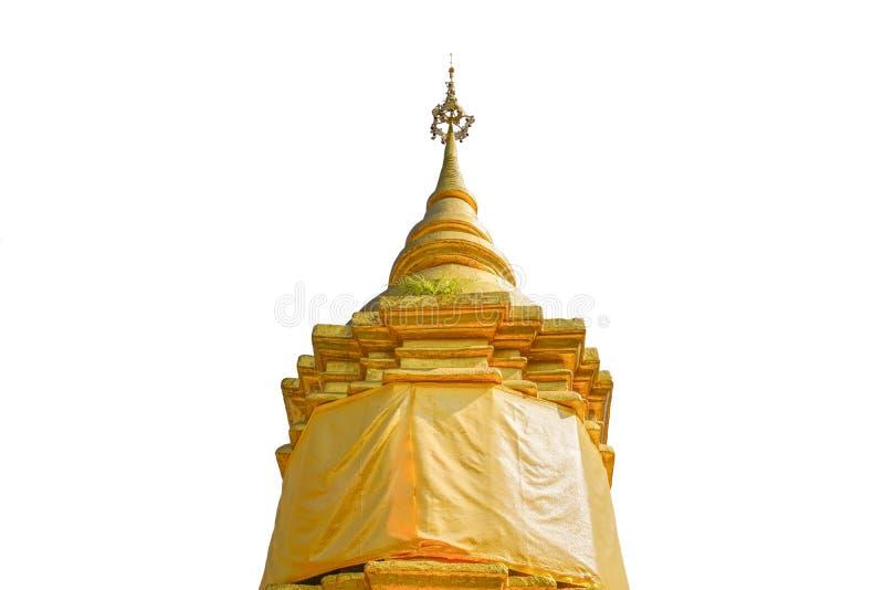 一座被隔绝的巨大的金黄塔 图库摄影