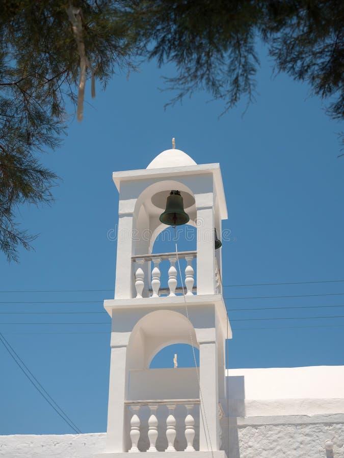 一座钟楼的细节在芦粟海岛 库存照片