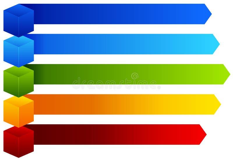 一张五颜六色的信息图 库存例证