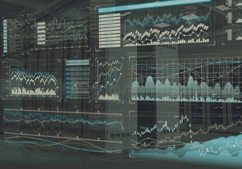 一张成功的股市概念拼贴画 皇族释放例证