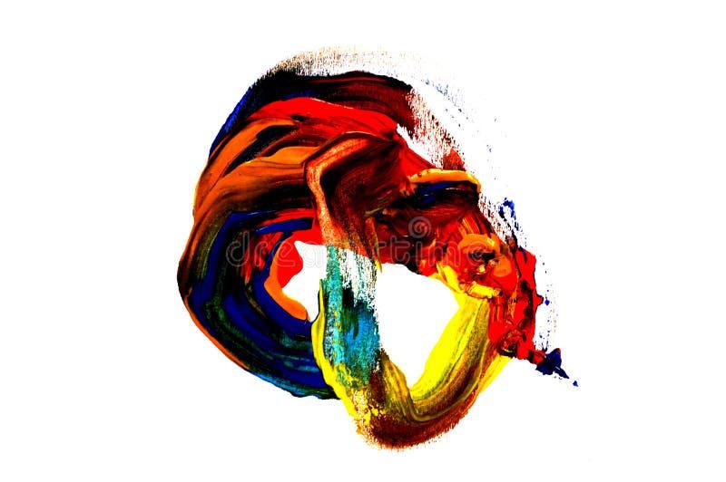 一张抽象树胶水彩画颜料绘画的照片 库存照片