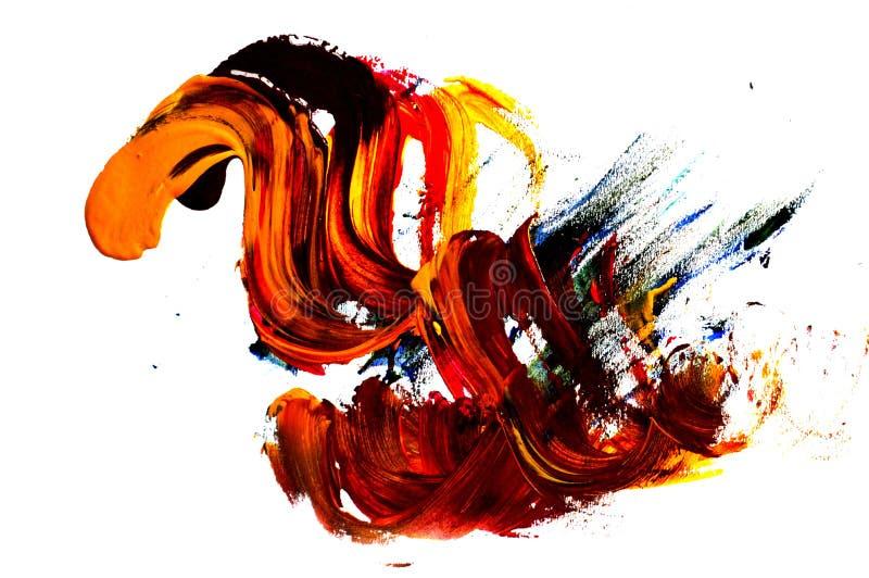 一张抽象树胶水彩画颜料绘画的照片 库存图片