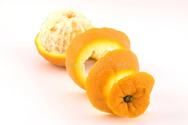 一张橙色peale透视图 免版税图库摄影