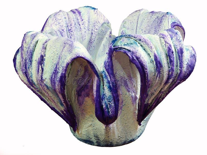 一张美丽的手工制造花盆 库存图片