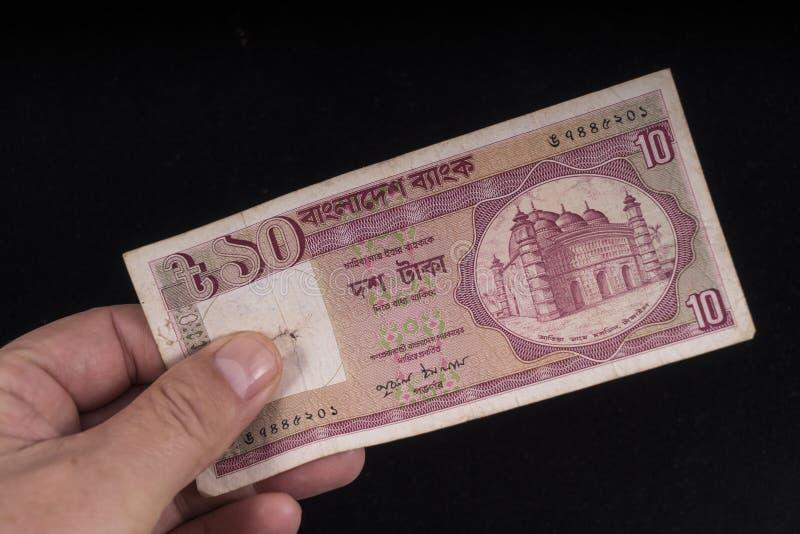 一张老孟加拉国钞票 免版税库存图片