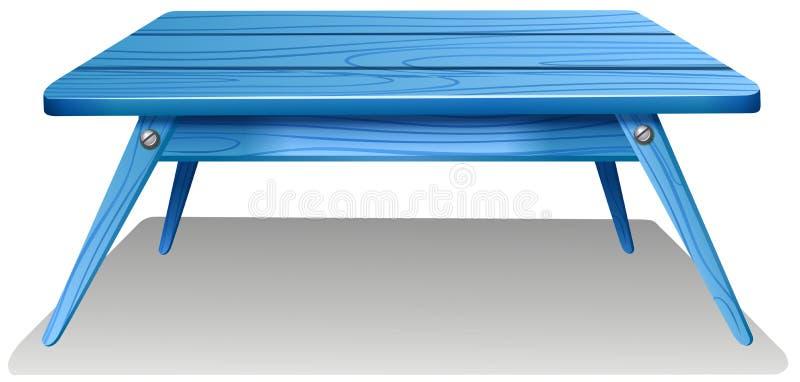 一张蓝色桌 向量例证