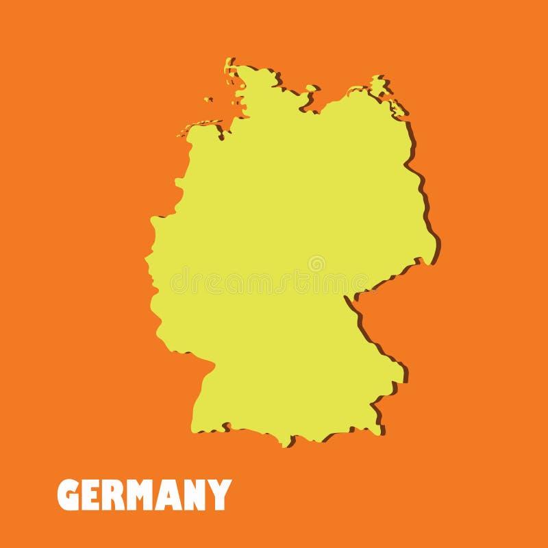 一张高详细的五颜六色的德国地图 皇族释放例证