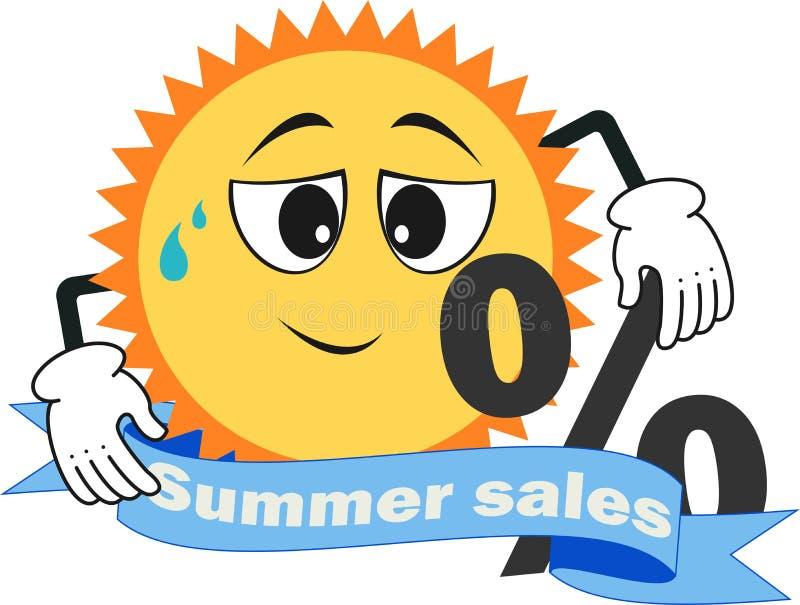 一折扣9月,夏天销售, 库存例证