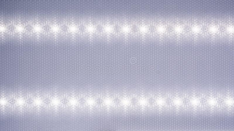 一支发光二极管的反射器隐藏了入天花板 免版税库存照片