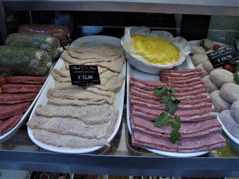 一最佳的肉店在罗马 库存图片
