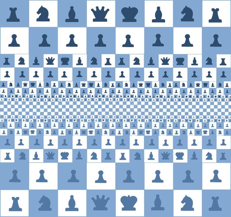 一杆棋枰,蓝色的抽象图象有片断的 免版税库存图片