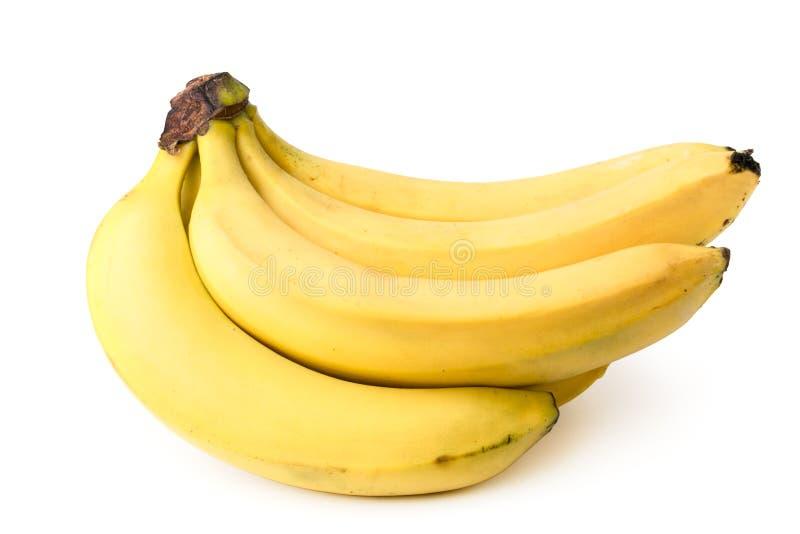 一束成熟香蕉,特写镜头 库存照片
