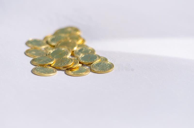 一束硬币 免版税库存照片