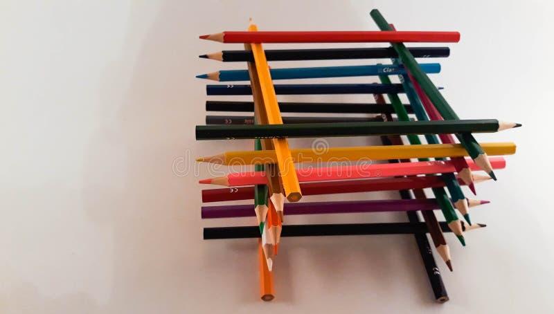 一束色的铅笔 免版税库存照片