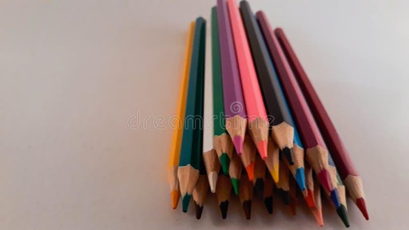 一束色的铅笔 库存照片